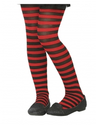 Mustapunaraidalliset sukkahousut lapselle