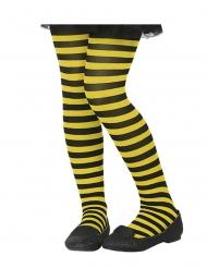 Keltamustaraidalliset sukkahousut lapselle