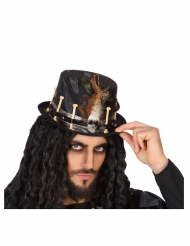 Musta voodoo-hattu aikuiselle