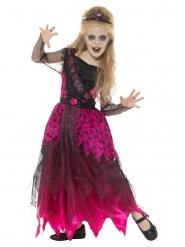 Tanssiaisten goottikuningattaren vaaleanpunainen naamiaisasu tytölle