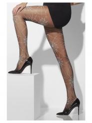 Mustat hämähäkinseitti- sukkahousut naiselle