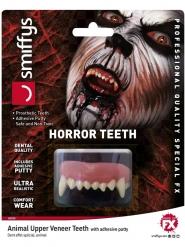 Eläimen realistiset hampaat aikuiselle