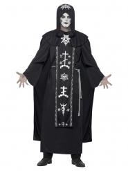 Pimeyden rituaalien musta naamiaisasu miehelle