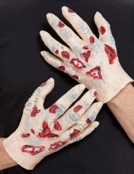 Zombin lateksiset kädet aikuiselle