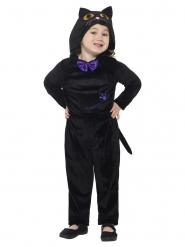 Mustan kissan veluuriasu lapselle