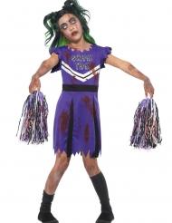 Zombi/cheerleaderin violetti naamiaisasu tytölle