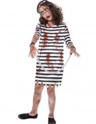 Kahlitun zombivangin naamiaisasu tytölle
