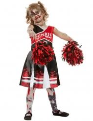 Zombien/cheerleaderin naamiaisasu tytölle