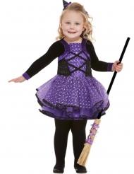 Kaunis violetti tähtinoidan naamiaisasu tytölle