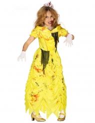 Zombiprinsessan keltainen naamiaisasu tytölle
