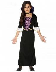 Nuoren vampyyrin violettimusta naamiaisasu tytölle