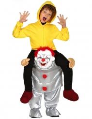 Psykopaattiklovnin selässä- naamiaisasu lapselle