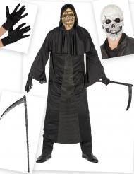 Viikatemiehen naamiaisasu ja asusteet halloweeniksi miehelle