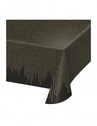 Muovinen 20-luvun pöytäliina, musta/kulta 137 x 259 ml