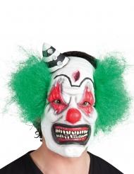 Klovnin pelottava lateksinen naamari hiuksilla