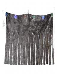 Verho värikkäillä valopääkalloilla 185 x 140 cm