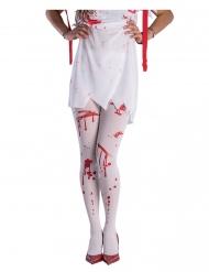 Valkoiset veriset sukkahousut aikuiselle