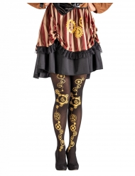 Mustat steampunk-sukkahousut naiselle