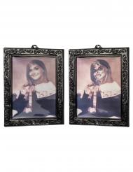 3D nuoren tytön vintagetaulut 29 x 23 cm