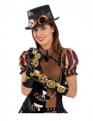 Mustat Steampunk-hansikkaat 56 cm aikuiselle