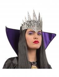 Kuningattaren hopeanvärinen kruunu aikuiselle