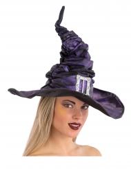 Violetti noidan rypytetty hattu soljella aikuiselle 42 cm