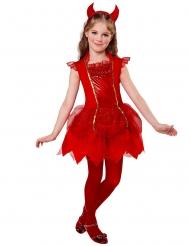 Pirun punainen naamiaisasu tytölle