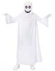 Valkoisen kummiuksen naamiaisasu lapselle