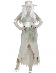 Valkoisen kummitusnaisen naamiaisasu naiselle