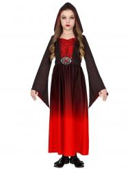 Vampyyrigurun mustapunainen naamiaisasu tytölle