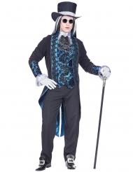 Sininen viktoriaaninen vampyyrin naamiaisasu miehelle