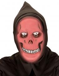 Punainen viikatemiehen pimeässä hohtava naamari aikuiselle