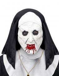 Pelottavan nunnan naamari päähineen kanssa aikuiselle