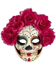 Dia de los muertos- naamari punaisilla ruusuilla aikuiselle