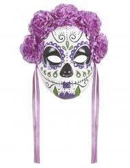 Dia de los muertos- naamari violeteilla nauhoilla aikuiselle