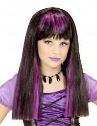 Noidan peruukki violeteilla raidoilla tytölle