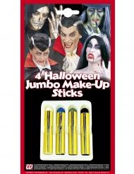 Halloween-meikkikynät 4 kpl 21 ml