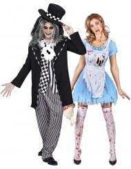 Hullun hatuntekijän ja Liisan halloween-pariasu aikuisille