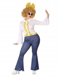 Farkkutyylinen plus-kokoinen discoasu naiselle