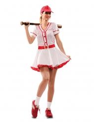 Baseballin pelaajan naamiaisasu naiselle