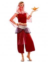 Itämaisen tanssijan punainen naamiaisasu naiselle