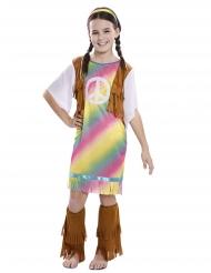 Sateenkaarimekko-hippiasu tytölle