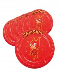 SamSam™- pahvilautaset 22 cm 6 kpl