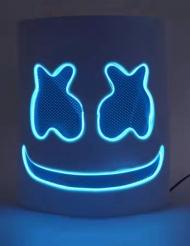 Vaahtokarkki- sininen LED- naamari aikuiselle