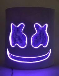Vaahtokarkki- violetti LED- naamari aikuiselle