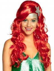 Merenneidon punainen peruukki naiselle