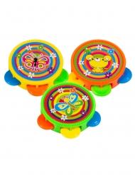 Moniväriset tamburiinit 4,5 cm 3 kpl