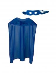 Supersankarin sininen asustesetti aikuiselle