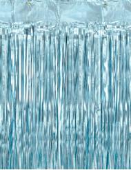 Metallisen sininen hapsuverho 90 x 250 cm