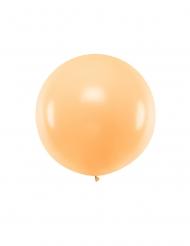 Jättimäinen persikanvärinen ilmapallo 1 cm